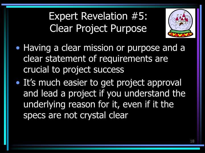Expert Revelation #5: