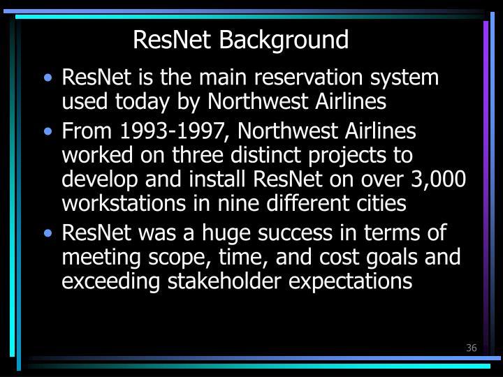ResNet Background