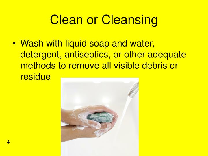 Clean or Cleansing