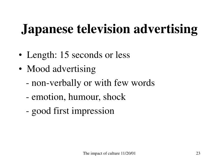 Japanese television advertising