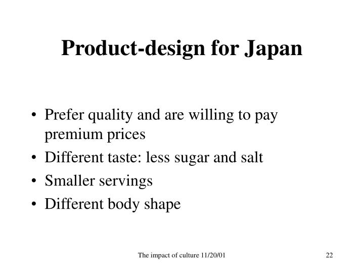 Product-design for Japan