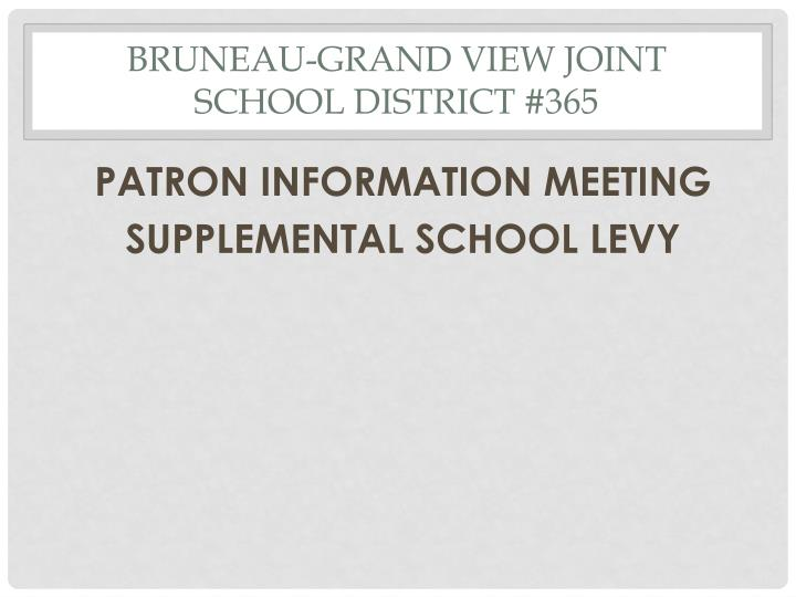 BRUNEAU-GRAND VIEW JOINT