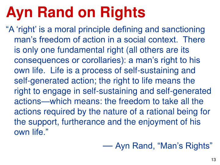 Ayn Rand on Rights