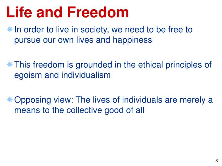 Life and Freedom