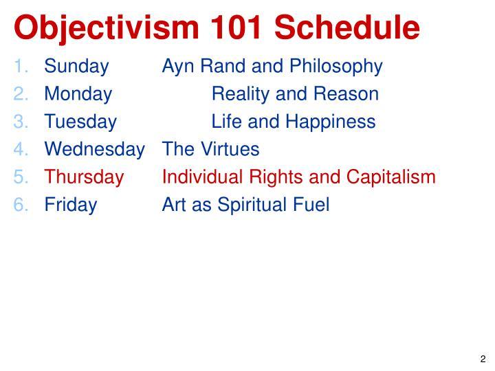 Objectivism 101 Schedule