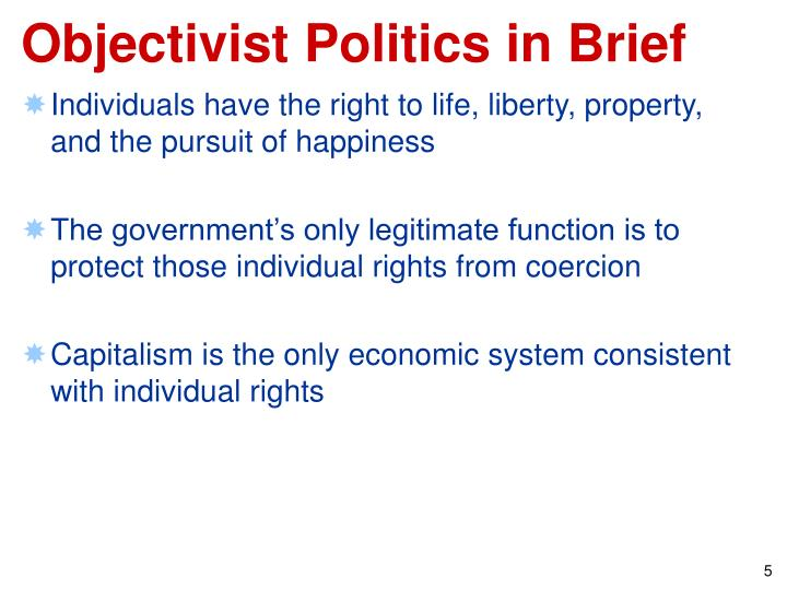 Objectivist Politics in Brief