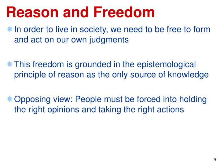 Reason and Freedom