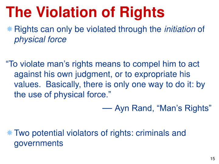The Violation of Rights