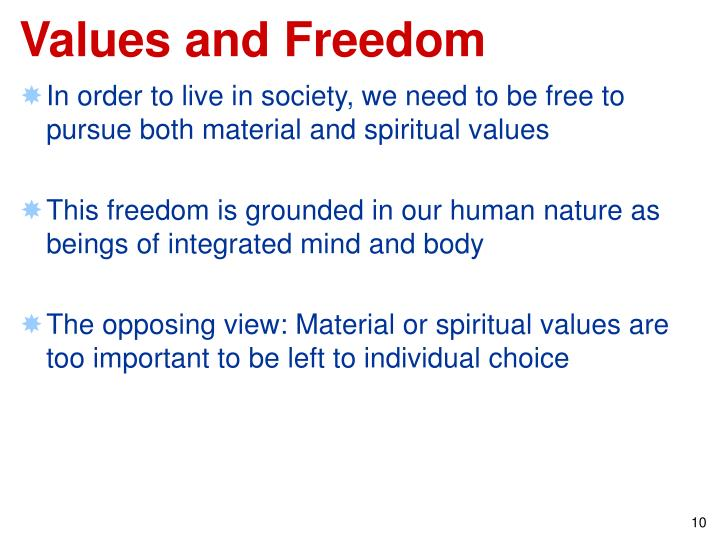 Values and Freedom