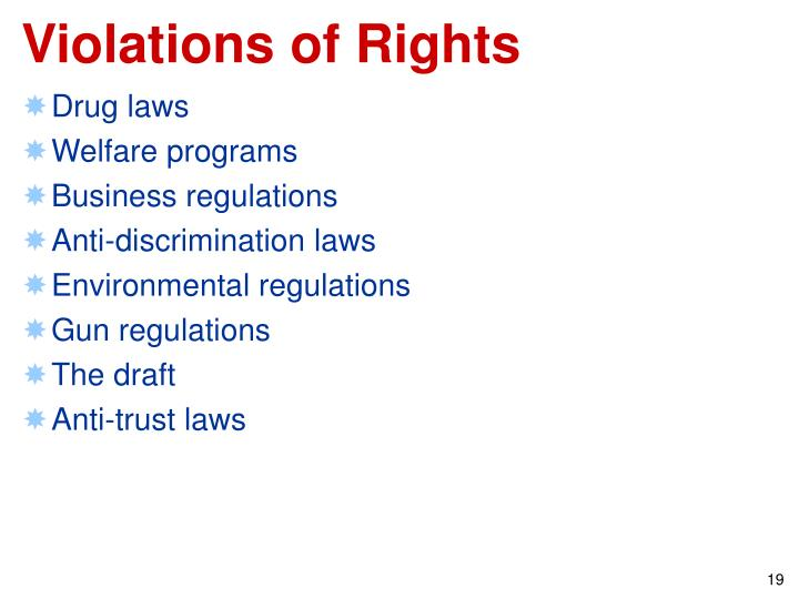 Violations of Rights