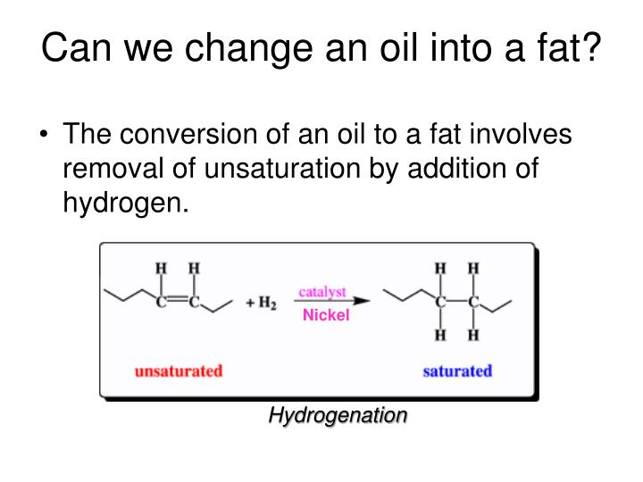 Can we change an oil into a fat?