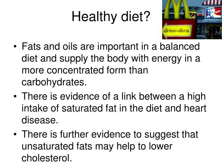 Healthy diet?