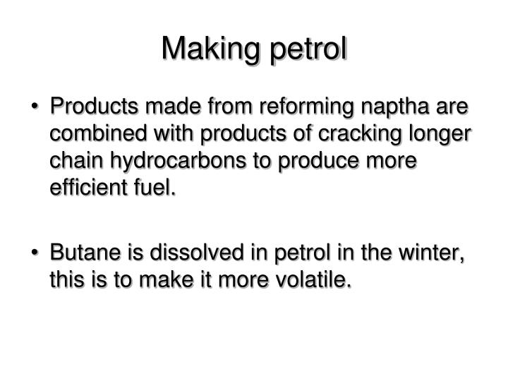 Making petrol