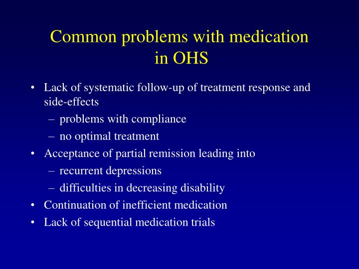 Common problems with medication