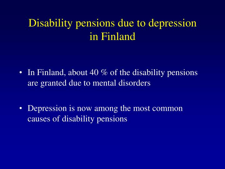 Disability pensions