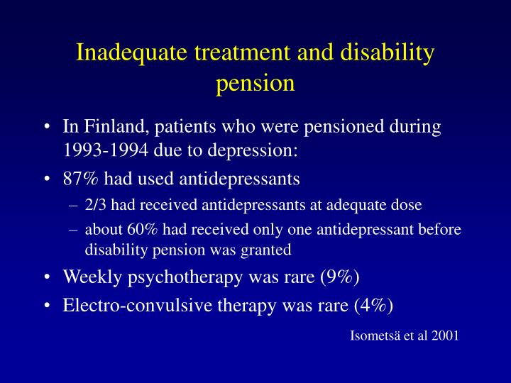 Inadequate treatment and disability pension