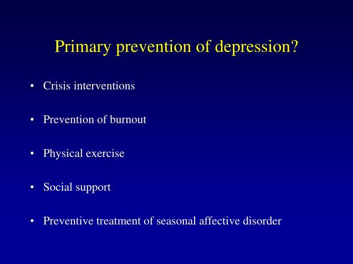 Primary preventio