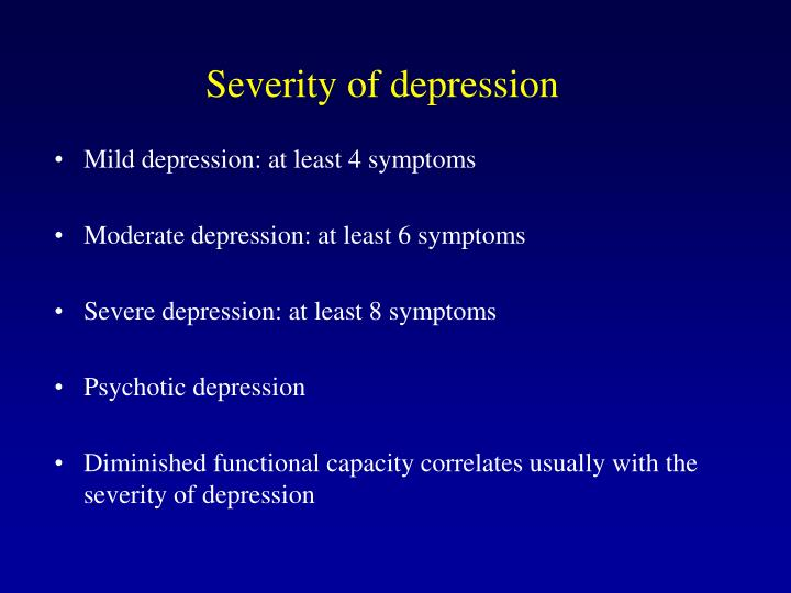 Severity of depression