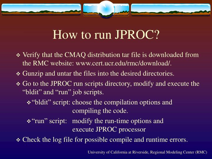 How to run JPROC?