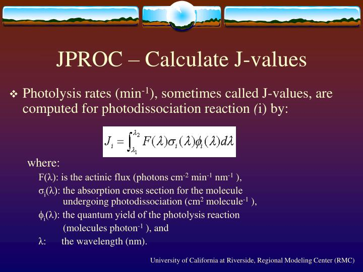JPROC – Calculate J-values