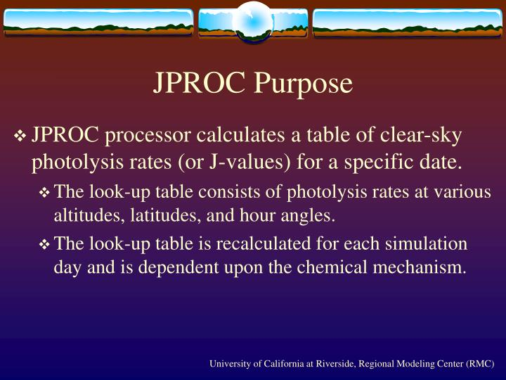 Jproc purpose