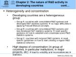 chapter 2 the nature of r d activity in developing countries cont