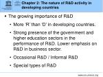 chapter 2 the nature of r d activity in developing countries