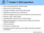 chapter 3 r d expenditure