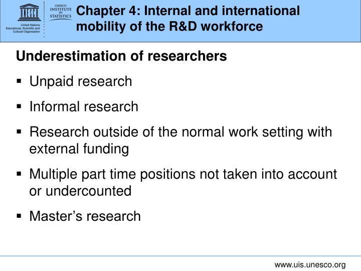 Chapter 4: Internal and international mobility of the R&D workforce