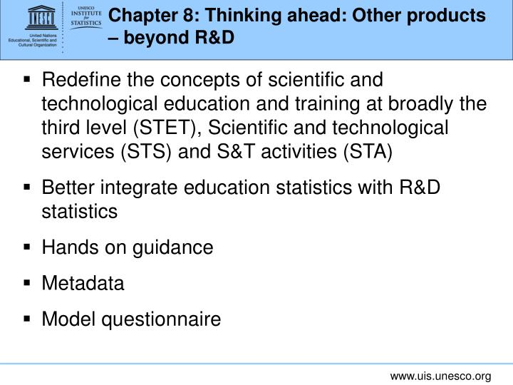 Chapter 8: Thinking ahead: Other products – beyond R&D