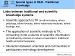 special types of r d traditional knowledge2