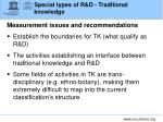 special types of r d traditional knowledge3