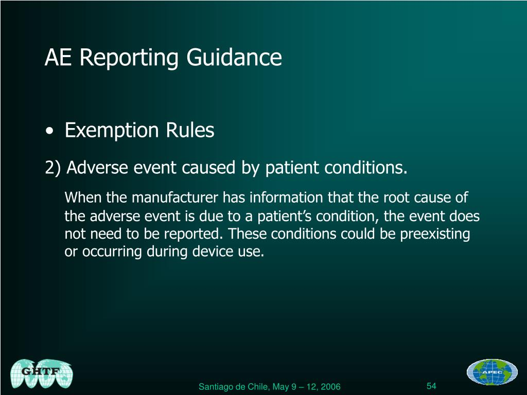 AE Reporting Guidance
