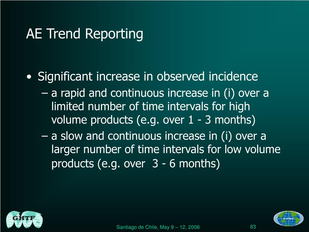 AE Trend Reporting