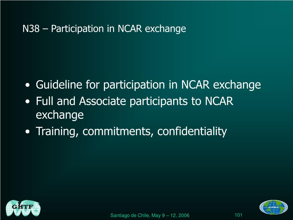 Guideline for participation in NCAR exchange