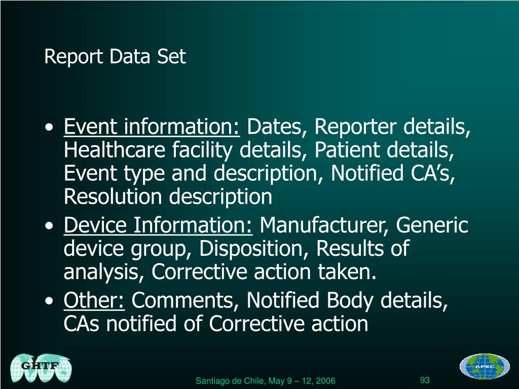 Report Data Set