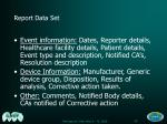 report data set