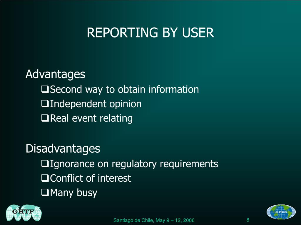 REPORTING BY USER