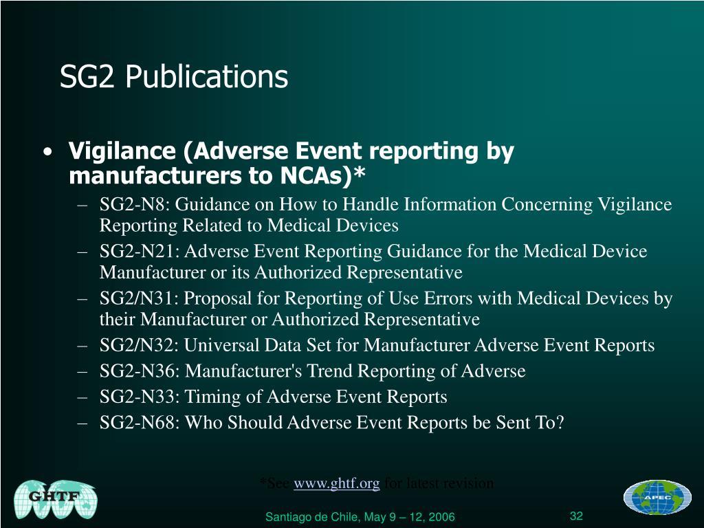 SG2 Publications