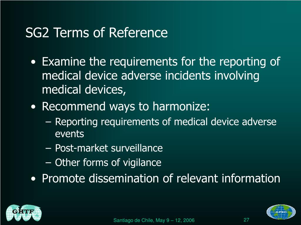 SG2 Terms of Reference