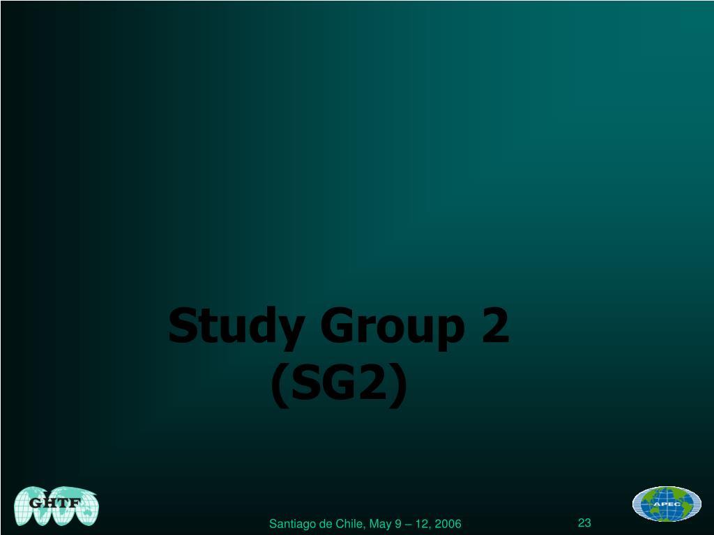 Study Group 2 (SG2)