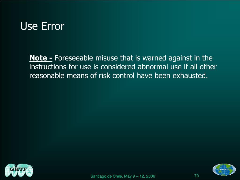 Use Error