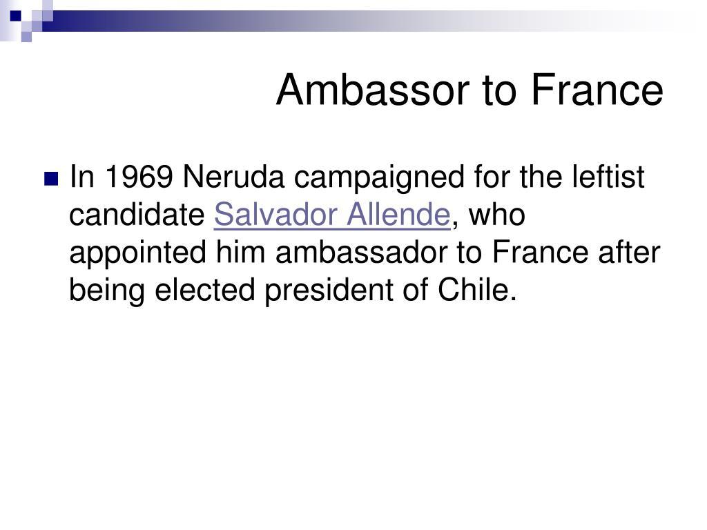 Ambassor to France