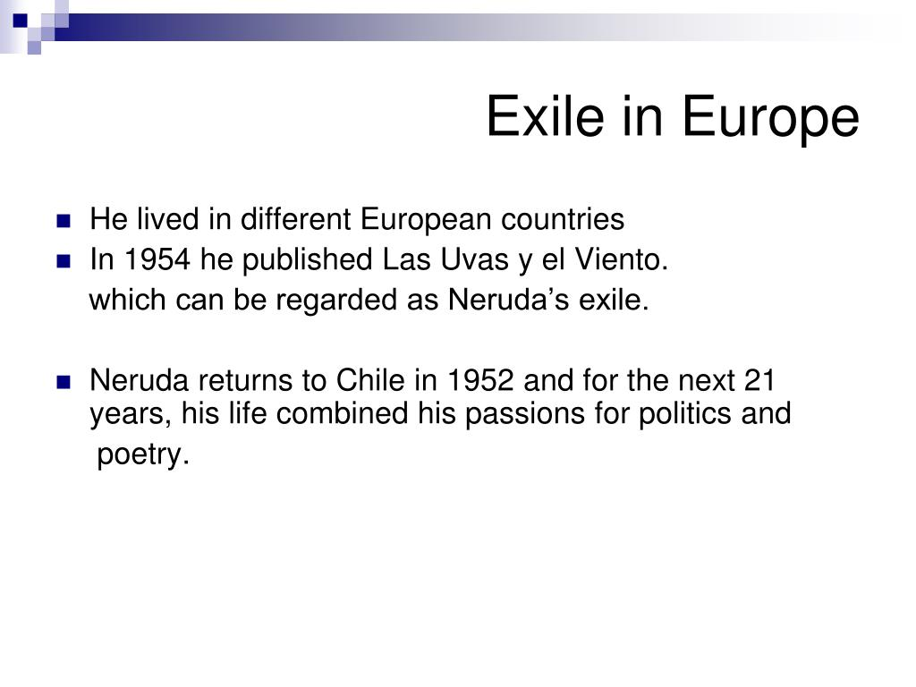 Exile in Europe