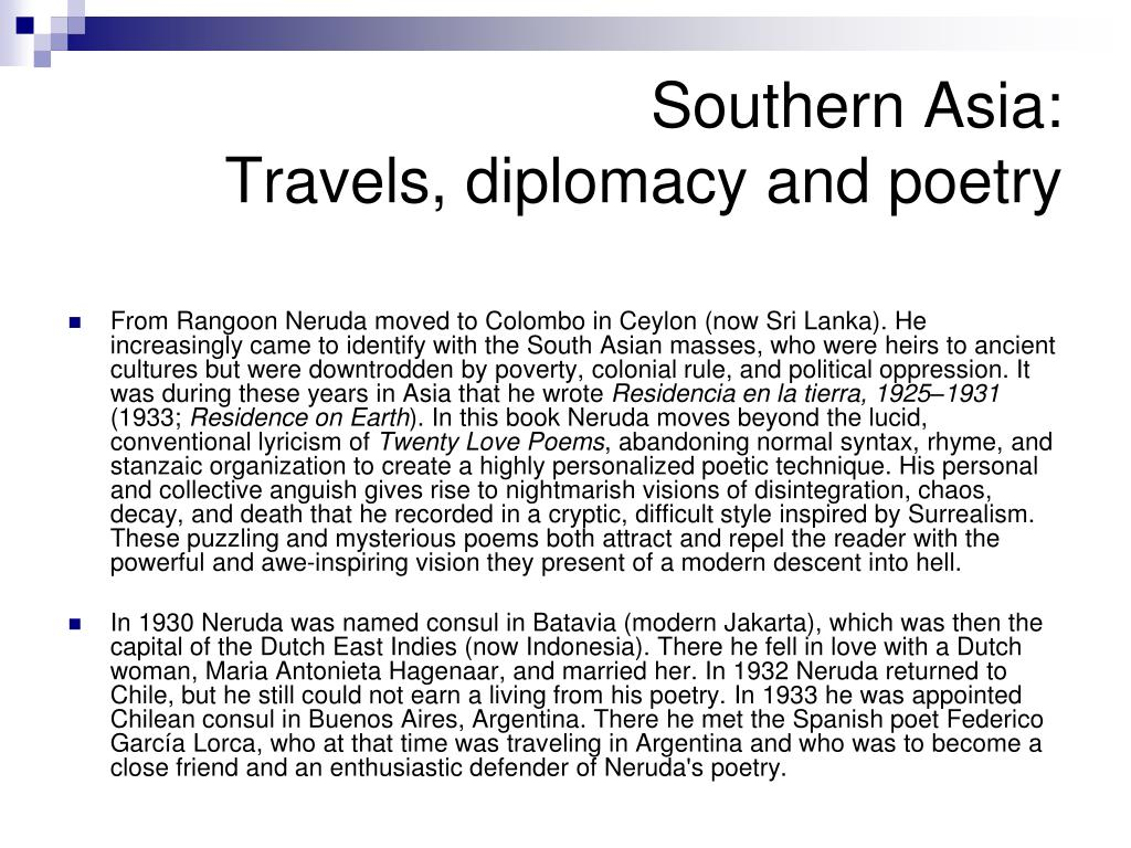 Southern Asia: