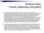 southern asia travels diplomacy and poetry
