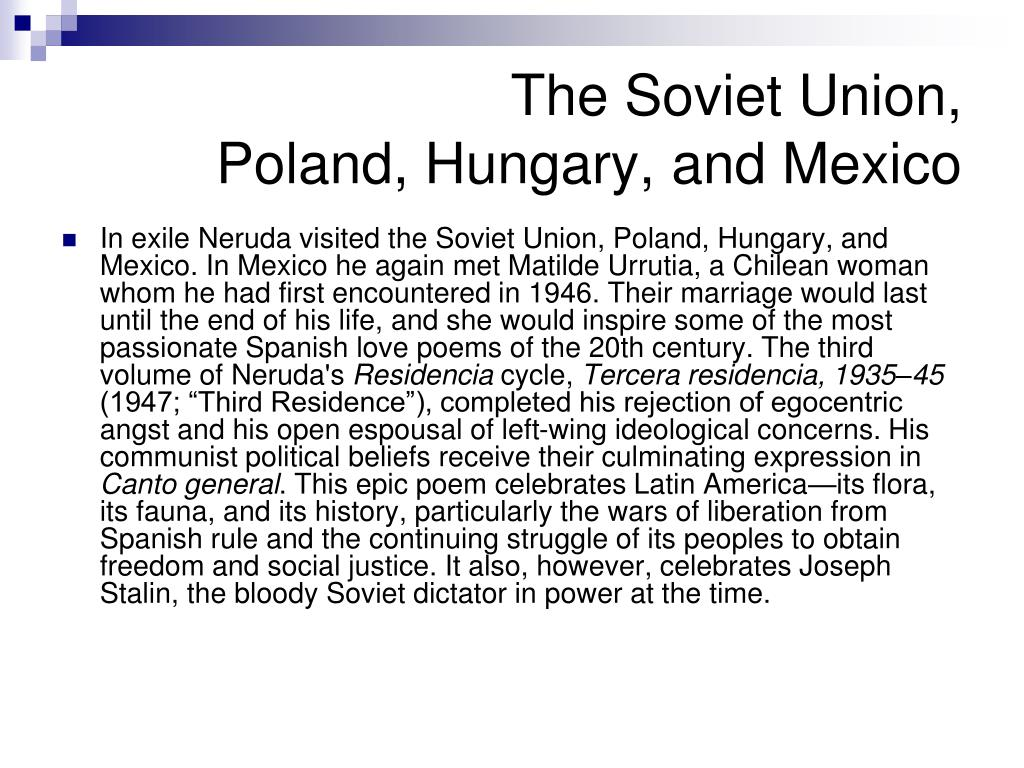 The Soviet Union,