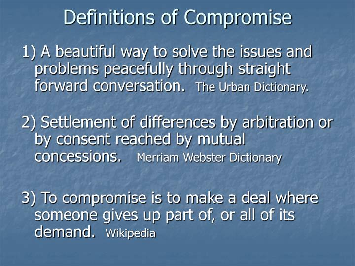 Definitions of compromise