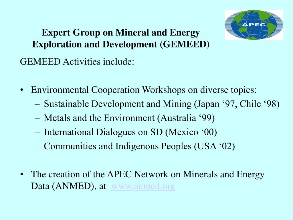 Expert Group on Mineral and Energy Exploration and Development (GEMEED)
