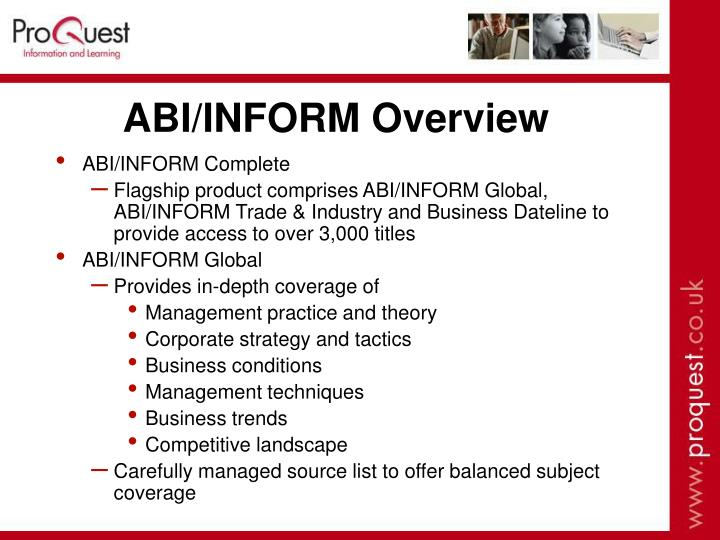 ABI/INFORM Overview